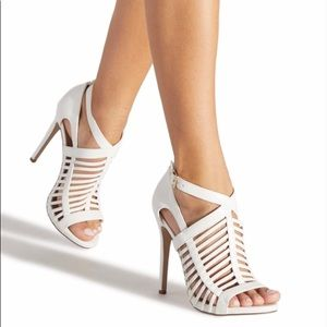 BRIGITTE CAGED HEELED SANDAL